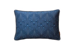 Cotton Peacock pude i farven Royal Blue fra Cozy Living